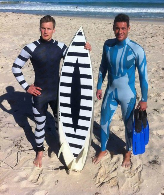 Shark repellant suits